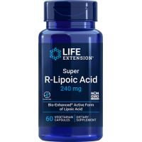 SUPER R-LIPOIC ACID 240mg, 60 Vcaps