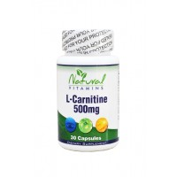 L-CARNITINE 500mg, 30 Caps