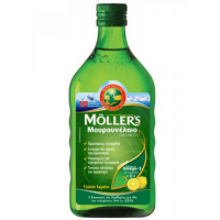 MOLLER'S - Μουρουνέλαιο (Cod Liver Oil) Lemon Flavour, 250 ml