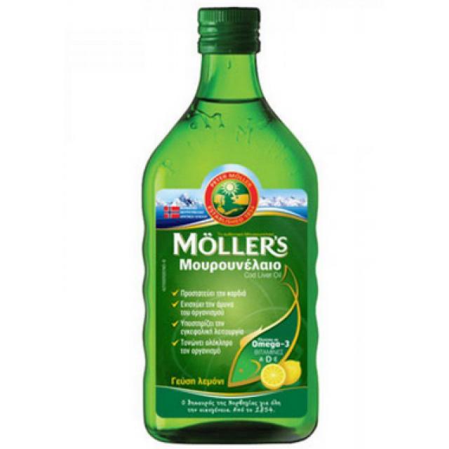 MOLLER'S - Μουρουνέλαιο (Cod Liver Oil) Lemon Flavour, 250 ml