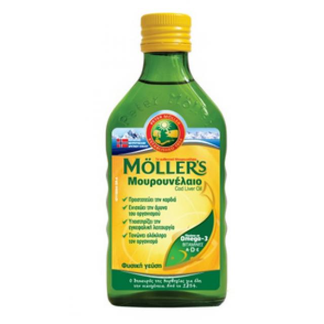 MOLLER'S - Μουρουνέλαιο (Cod Liver Oil) Natural Flavour, 250 ml