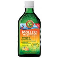 MOLLER'S - Μουρουνέλαιο (Cod Liver Oil) Tutti Frutti Flavour, 250 ml