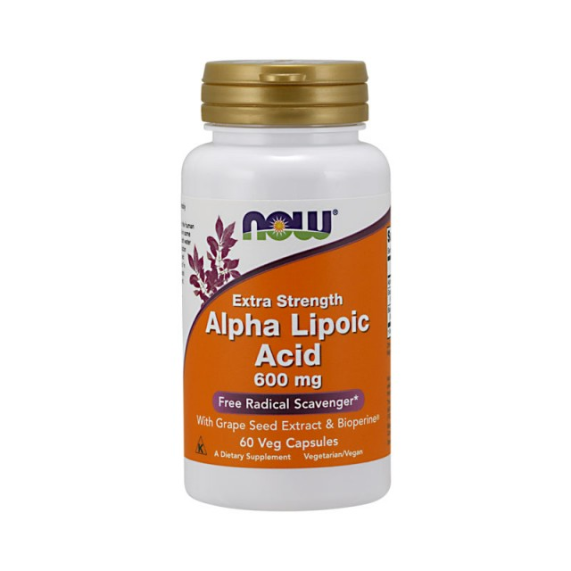 ALPHA LIPOIC ACID 600mg Extra Strenght with Grape Seed Extract & Bioperine, 60 Caps