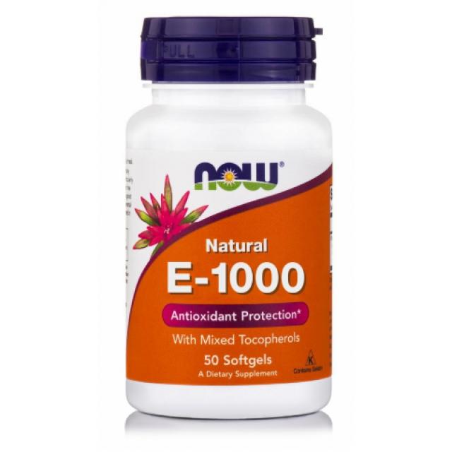 E-1000 IU with mixed Tocopherols, 50 Softgels