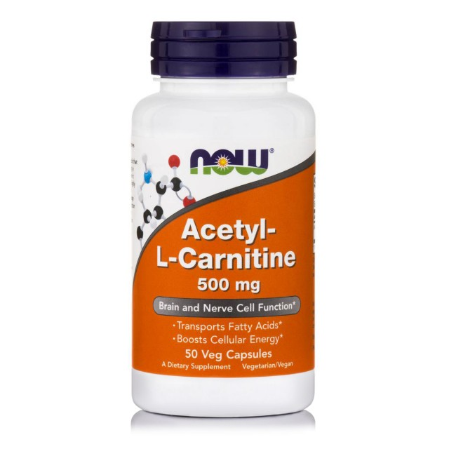 ACETYL L-CARNITINE 500mg, 50 Vcaps