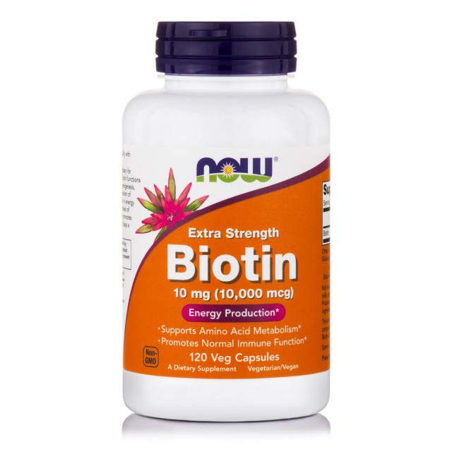 Extra Strength BIOTIN 10 mg (10,000 mcg), 120 veg caps