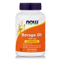 BORAGE OIL 1000mg, 60 Softgels