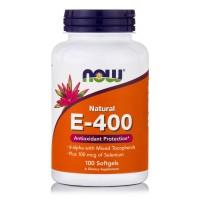 E-400 IU Natural with Selenium 100 mcg, 100 Softgels