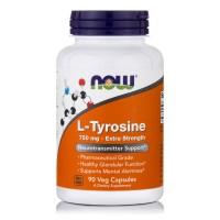 L-TYROSINE 750mg (Free Form), 90 Caps