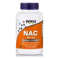 NAC 600mg N-Acetyl Cycteine with Selenium and Molybdenium, 100 Vcaps