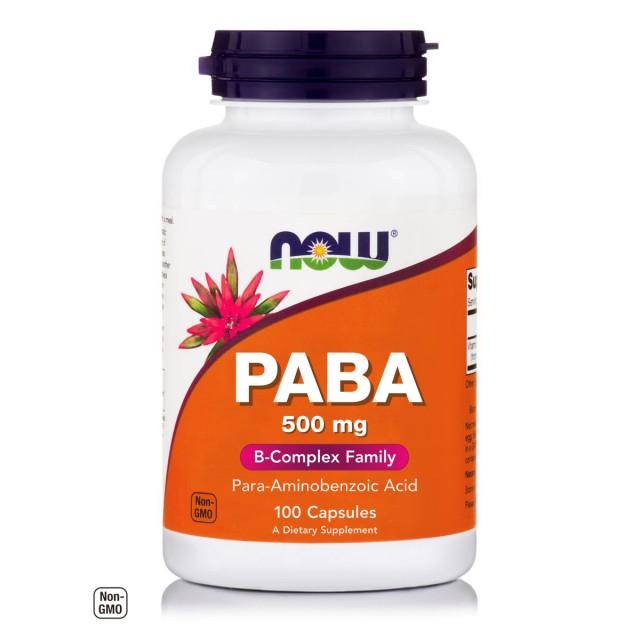 PABA 500mg (Para-Aminobenzoic Acid), 100 Caps