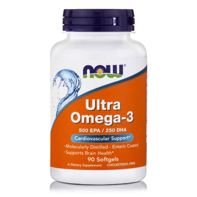 ULTRA OMEGA-3 (500 EPA/250 DHA) Deep Sea Fish Oil, 90 Softgels