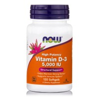 VITAMIN D3 5000 IU, 120 Softgels