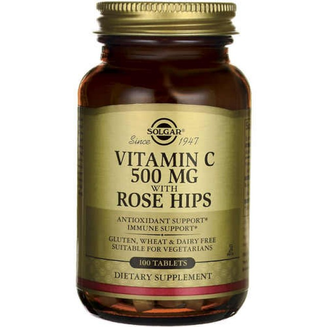 VITAMIN C 500mg with ROSE HIPS, 100 Tabs