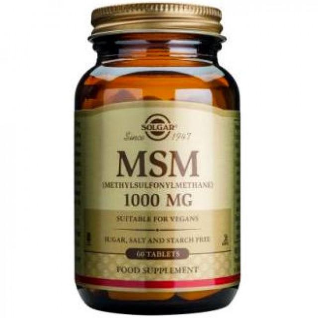 MSM 1000mg, 60 Tabs