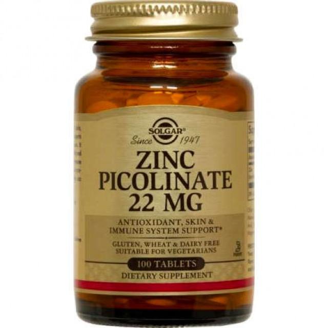 ZINC PICOLINATE 22mg, 100 Tabs